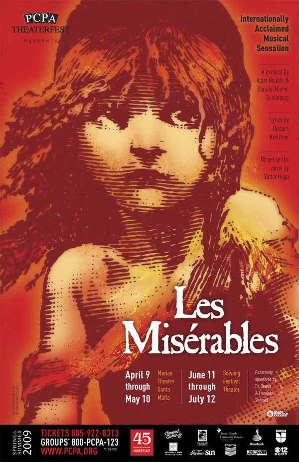 Les Miserables, 11 x 17 in., 2008