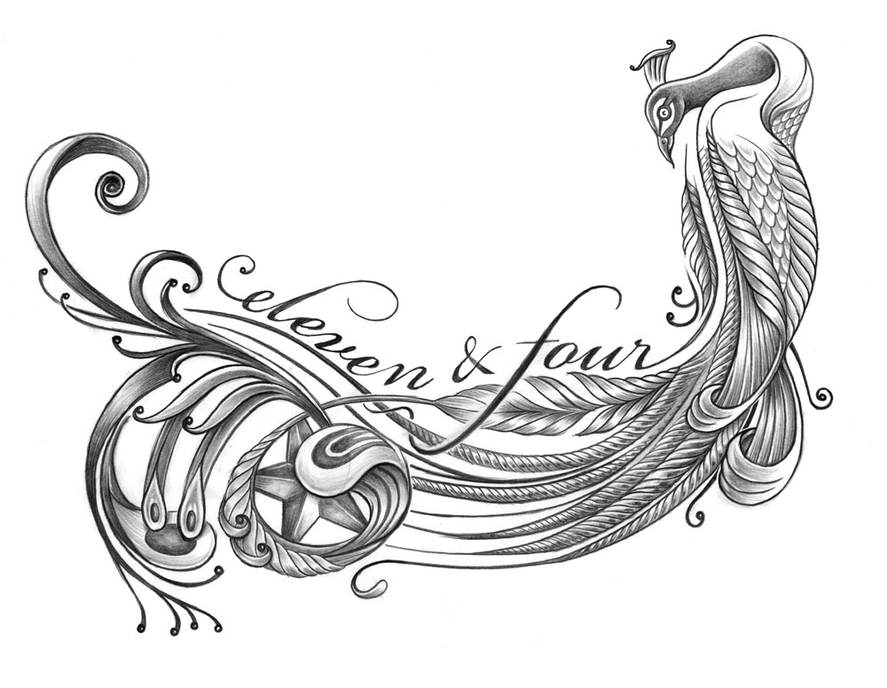 Tattoo design for musician Joe Koenig. Inspired as a memorial for his mother
